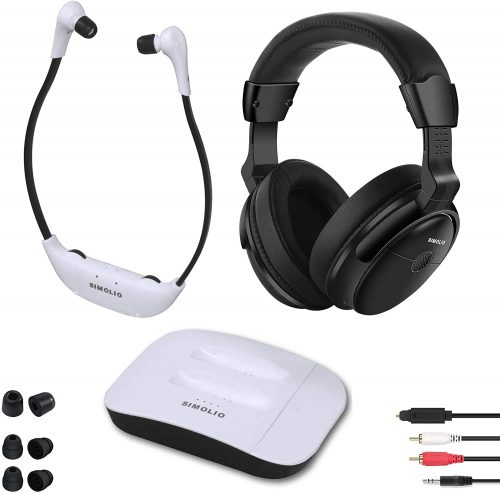 SIMOLIO Digital 2.4GHz Dual Wireless TV Headphones